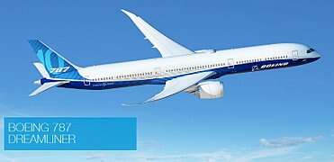 Despite serious early operational setbacks due to problems with the lithium-battery package, the Boeing 787 Dreamliner has seen wide acceptance.  (Image source: The Boeing Company)