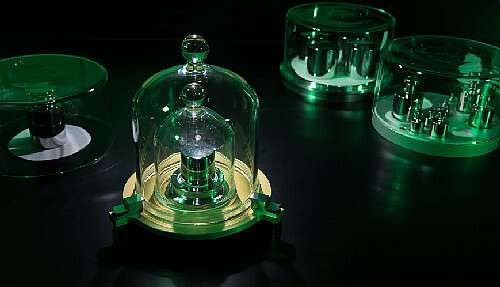 These secondary kilogram standards are built and calibrated against the top-level 'ultimate' primary standard in a Paris vault, and they apparently have evolving differences in mass; in principle, they will no longer be needed due to the approval of a reproducible definition of the standard. (Image source: NIST)