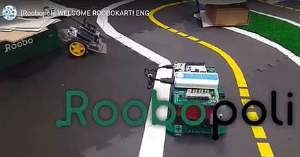 The self-driving vehicle, Roobokart, is a part of the Roobopoli project (Source: YouTube)
