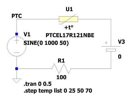 Simulation circuit in LTspice