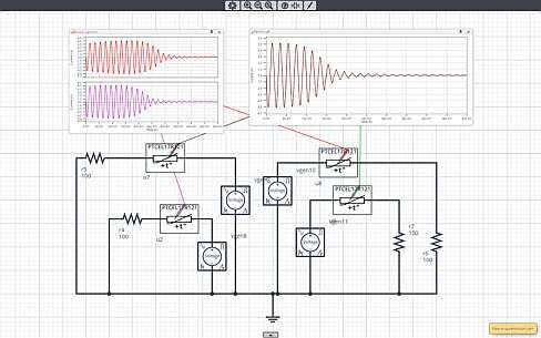 Click here for larger image  Simulation circuit in SystemVision Cloud