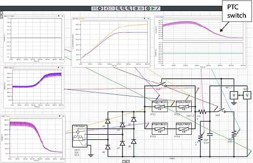 Click here for larger image  Simulation in SystemVision Cloud of SMSP circuit with capacitor in short circuit