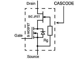 The cascode configuration of a Si-MOSFET and SiC JFET