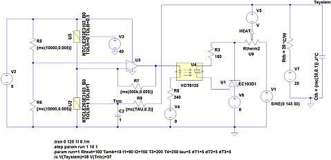 Click here for larger image  A temperature regulation circuit based on the Vishay VOT8125 TRIAC optocoupler