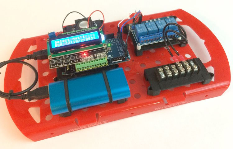photo of a Phase Dock breadboard system